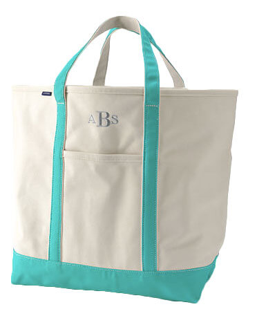 10 Best Gifts for New Baby - Lands'End Monogrammed Tote Bag