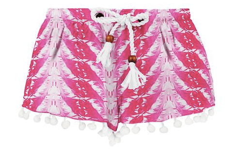 Snapper Rock Girls' Fushia Feathers Swim Shorts