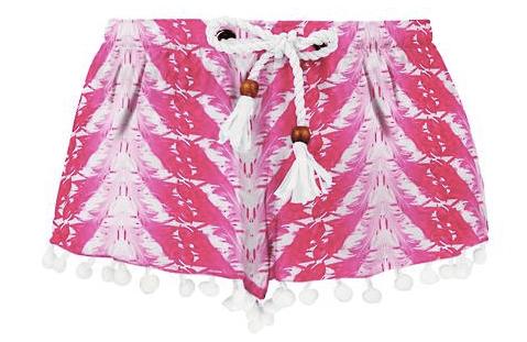 Snapper Rock Girls' Fushia Feathers Swim Shorts