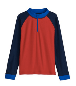 Coolibar Boys' Zip Rash Guard