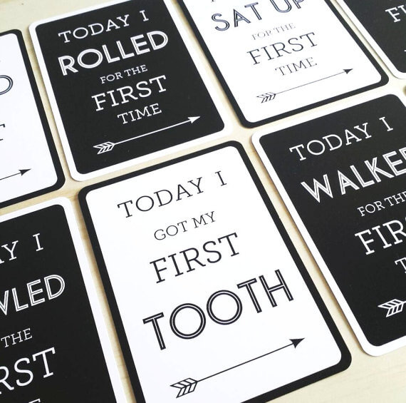 milestone cards from Leni+Co
