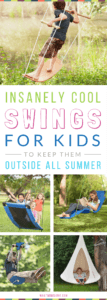 Awesome Backyard Ideas for Kids - Swings, Hangouts and Pods! Use them as fun Summer Activities and Boredom Busters for Outdoor Play.