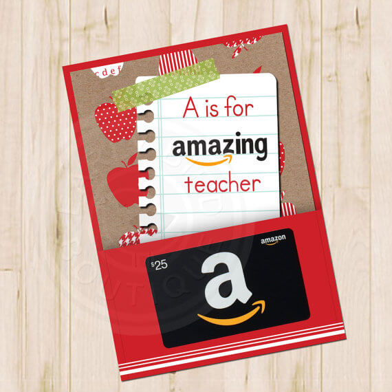 Teacher Gift Card Printables - Amazon