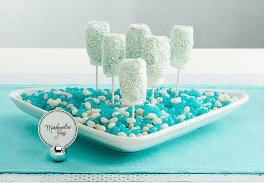 Easy Disney Frozen Treat Ideas - Marshmallow Pops by Inspired Bride