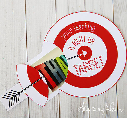 Teacher Gift Card Printables - Target