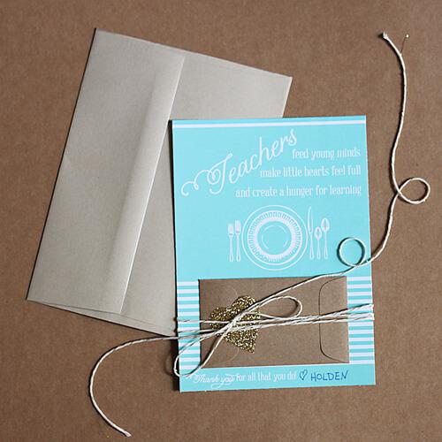 Teacher Gift Card Printables - restaurant
