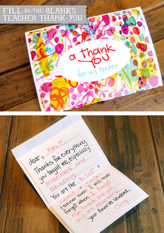 Teacher Gift - Thank You Card : thank you gift ideas for teachers - princetonregatta.org
