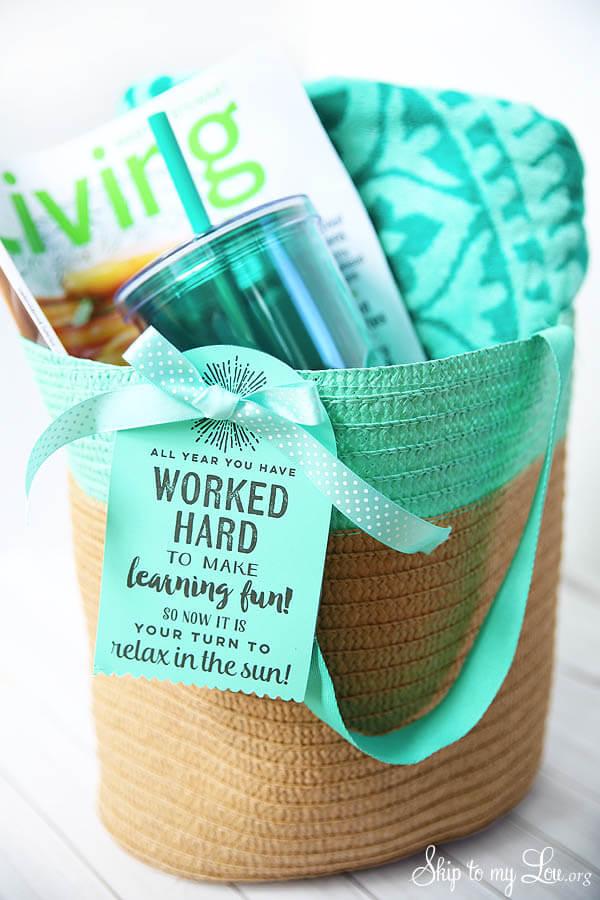 Teacher Appreciation Gift - Printable Tote Bag Tag