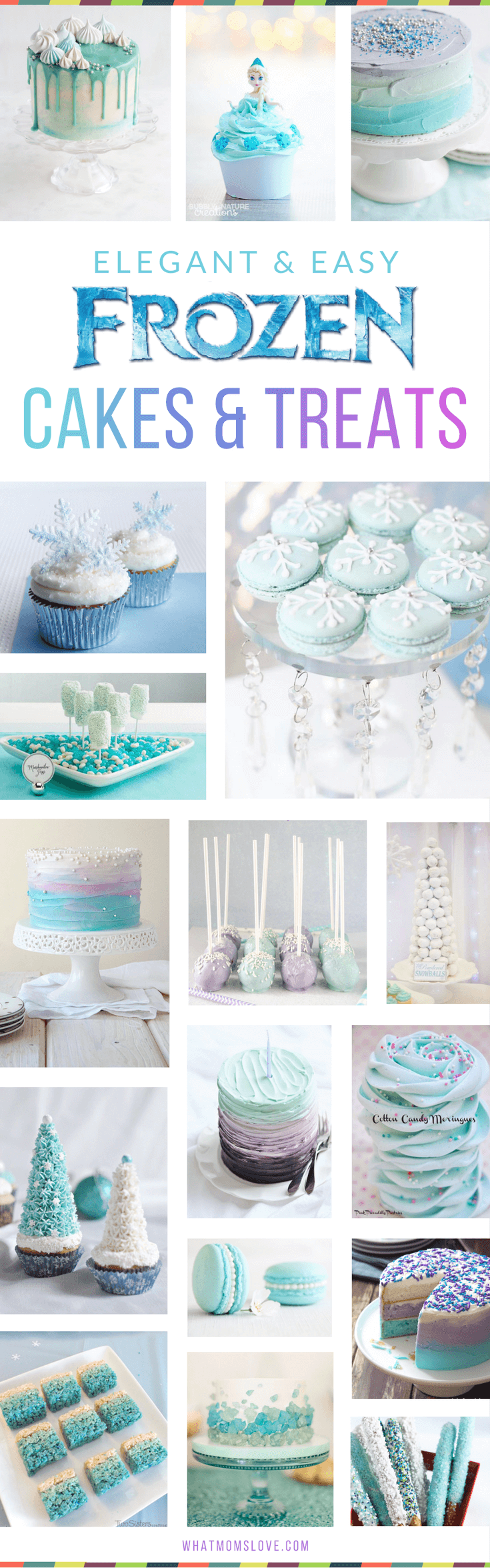 Elegant FrozenInspired Cakes Treats That Would Make Elsa Proud