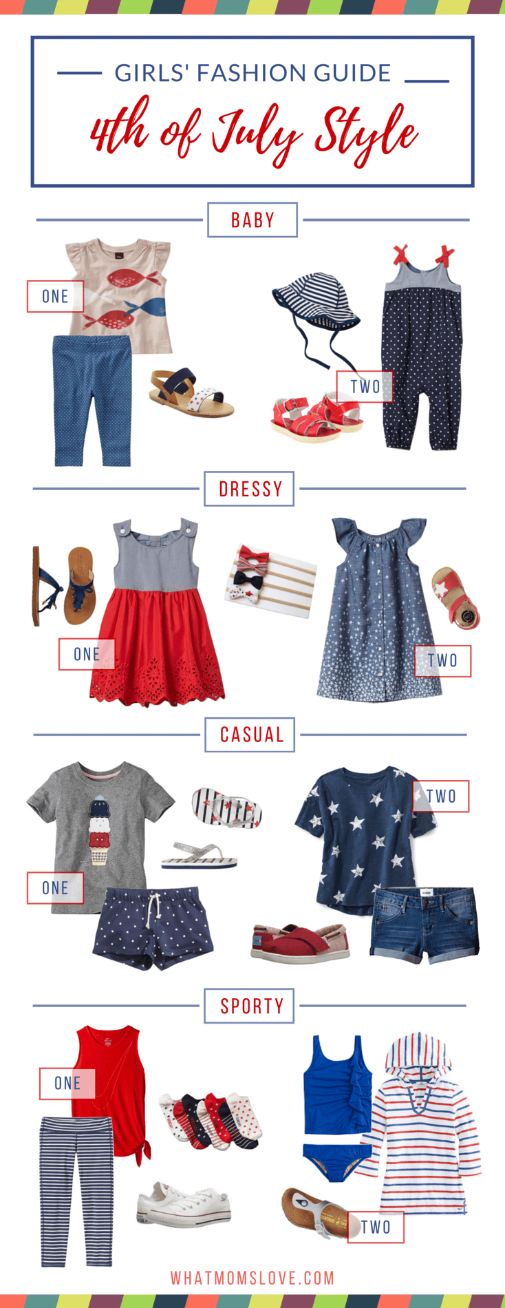 Stylish Girls' Fashion Outfits to Wear to Celebrate 4th of July