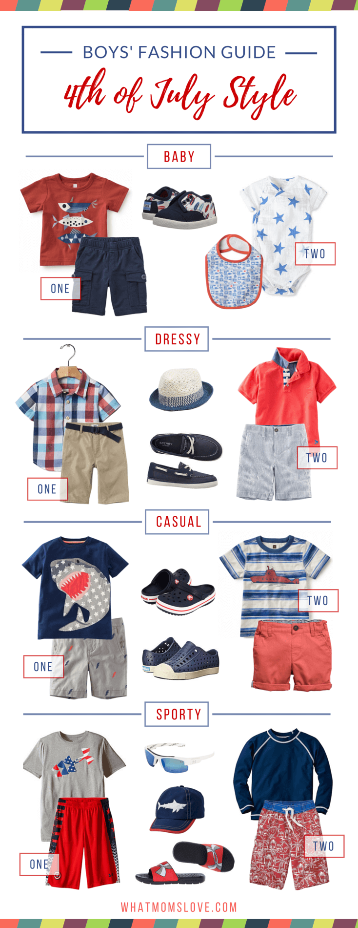 Patriotic, Stylish Boys' Fashion Outfits to Wear to Celebrate 4th of July