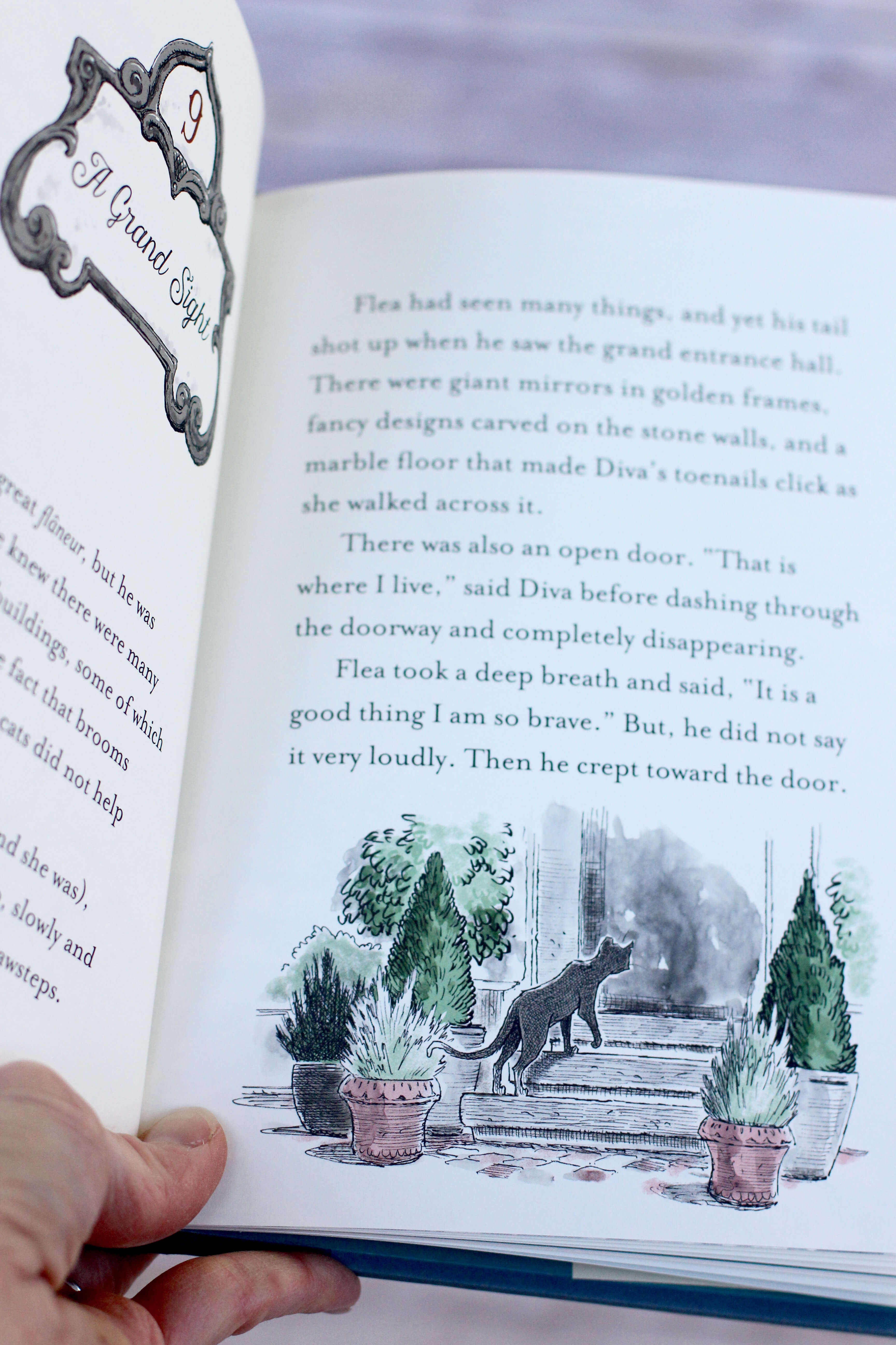The Story of Diva and Flea illustrations inside book. First Chapter Book to Read Aloud to your preschooler or kindergartener