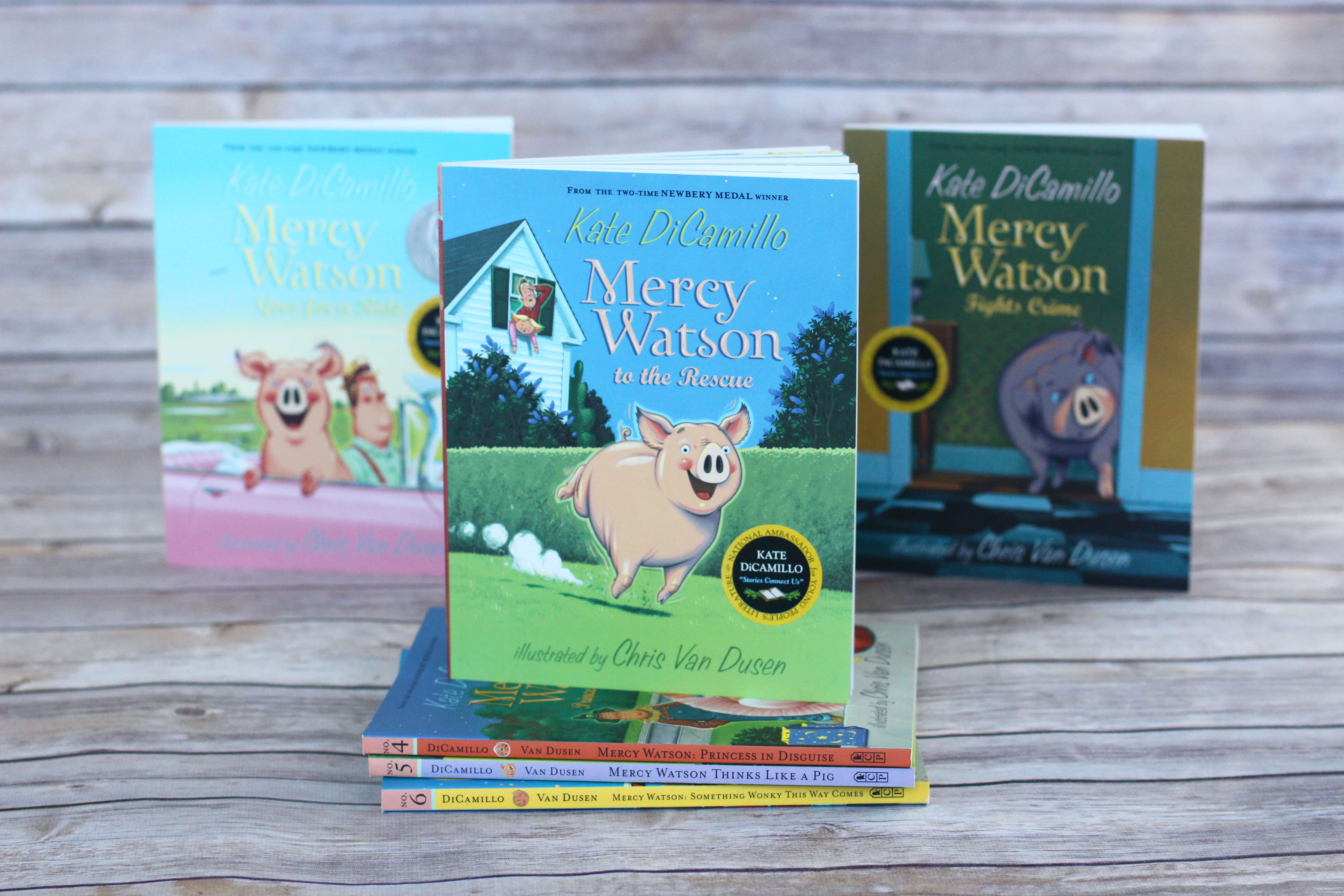 Mercy Watson Boxed Set. First Chapter Book to Read Aloud to your preschooler or kindergartener