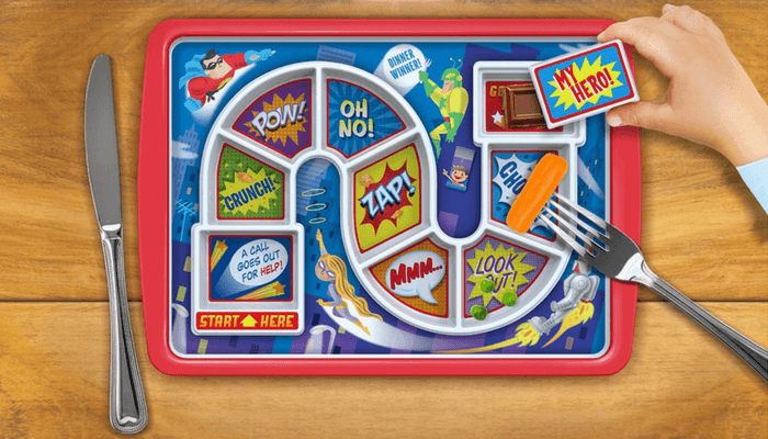 Products to Make Eating Fun for Kids. How to Get Picky Eaters to Try New Foods. Dinner Winner Plate Fred & Friends.