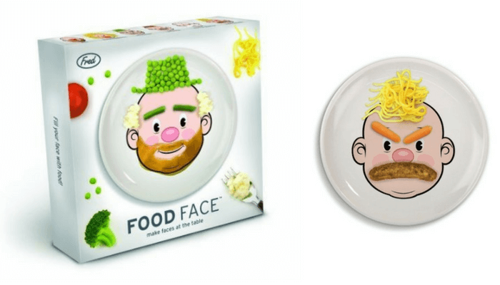 Products to Make Eating Fun for Kids. How to Get Picky Eaters to Try New Foods. Food Face Plates Fred & Friends.