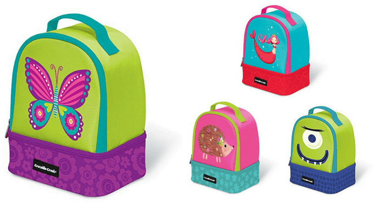 Crocodile Creek Eco Kids Insulated Two Compartment Lunch Bag