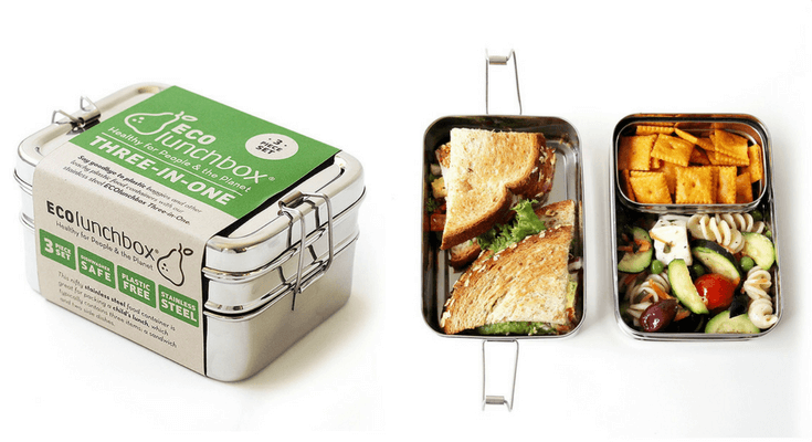 Best Bento Lunch Boxes for Kids - ECOlunchbox Three-in-One Stainless Steel Food Container | Back to School Guide