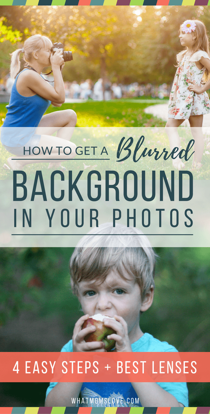 How to get a blurry background in your photos. Take better photos of your kids.