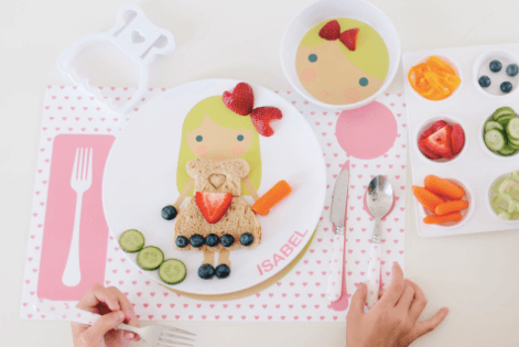 Products to Make Eating Fun for Kids. How to Get Picky Eaters to Try New Foods. DylBug Personalized Little Me Dress Up Plates.