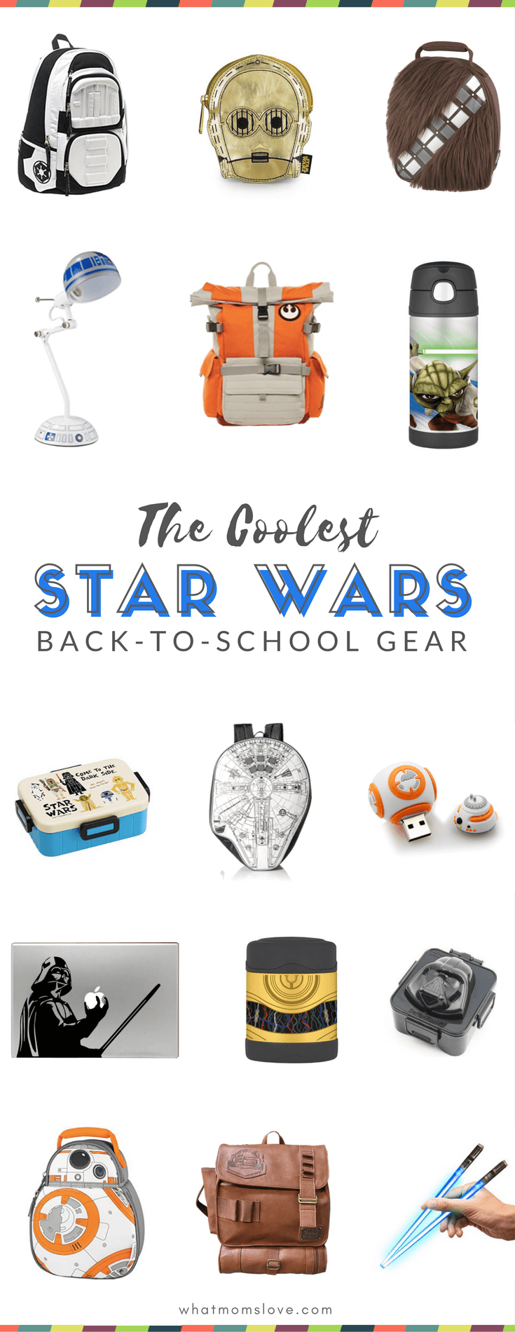 Cool Star Wars Back to School Supplies for kids - awesome backpacks, lunch bags, free printables and more! May the force be with you!