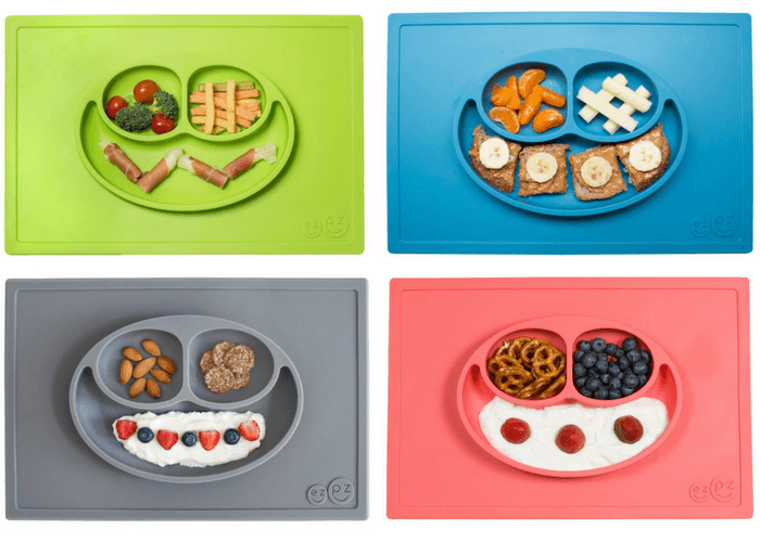 Products to Make Eating Fun for Kids. How to Get Picky Eaters to Try New Foods. ezpz Happy Mat.