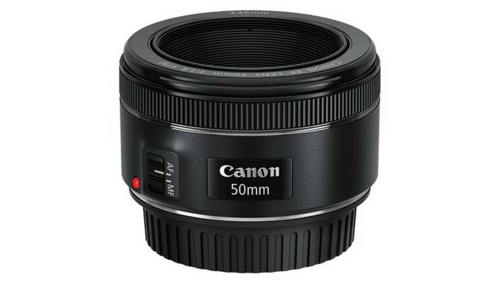 Canon 50mm f/1.8 lens