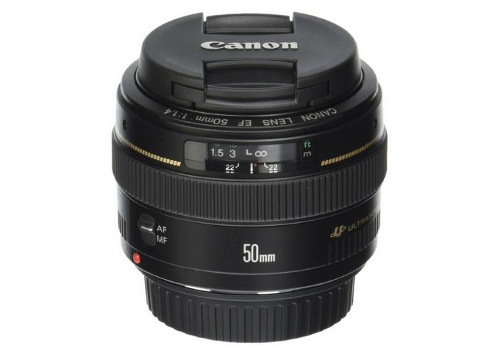 Canon 50mm f/1.4 lens