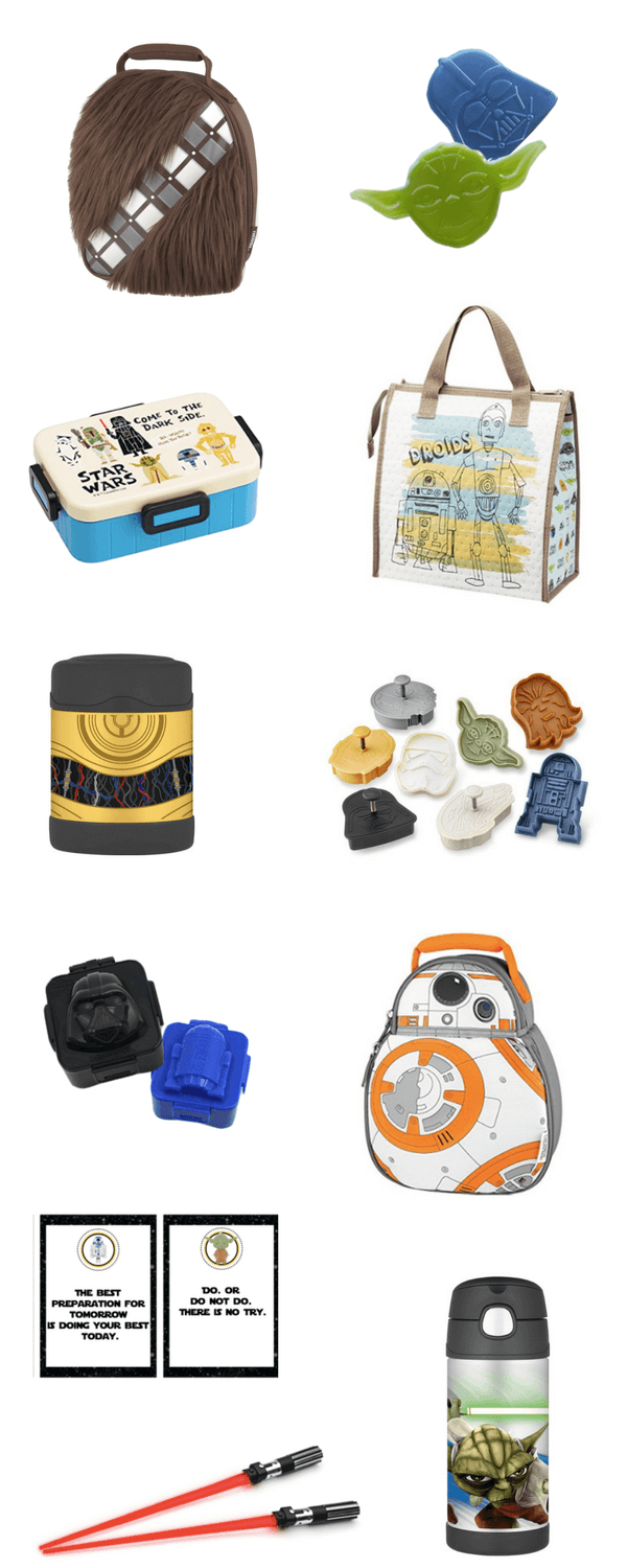 Star Wars cool lunch bags, lunch boxes, lunch accessories, water bottles for back-to-school