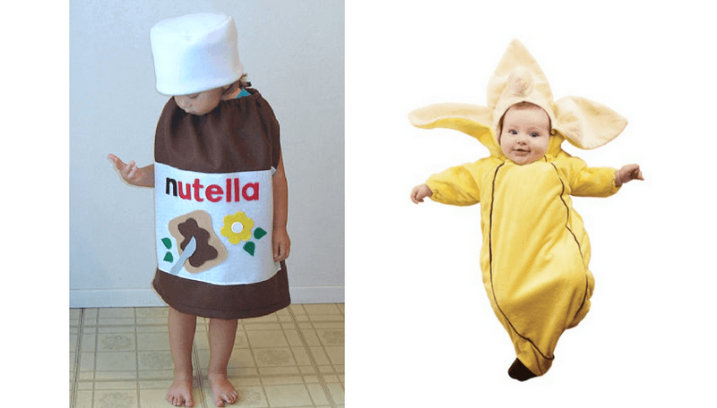 Creative Halloween Costumes for Siblings - Nutella and Banana