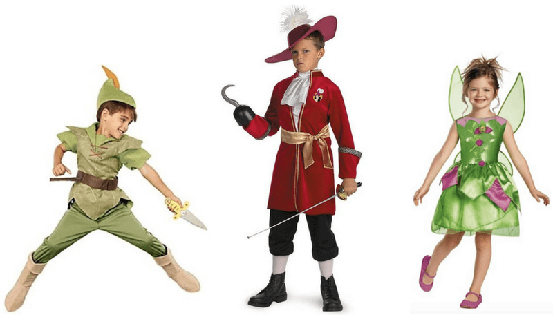 Creative Halloween Costumes for Siblings - Peter Pan, Hook, Tinkerbell