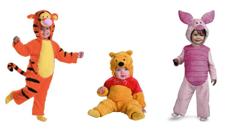 Creative Halloween Costumes for Siblings - Winnie the Pooh