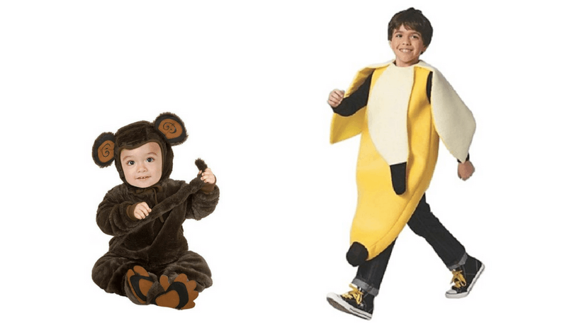 Creative Halloween Costumes for Siblings - Monkey Banana