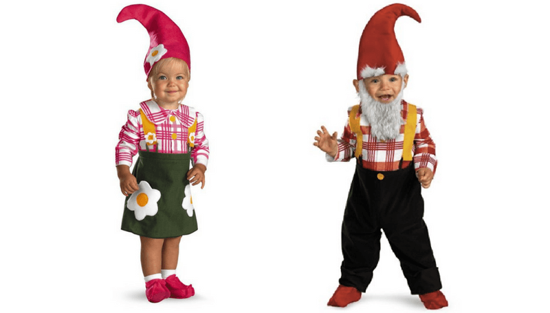 Creative Halloween Costumes for Siblings - Gnomes