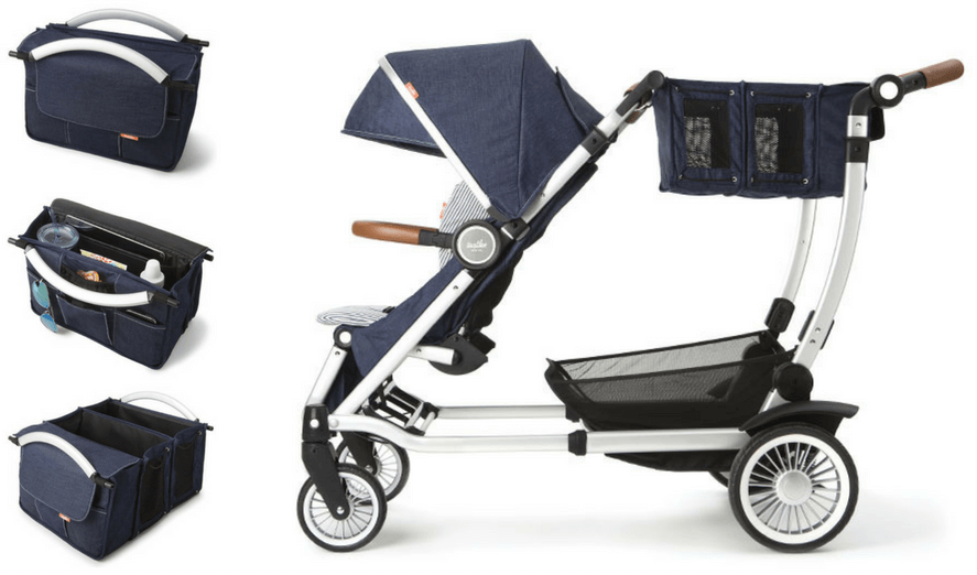Austlen Entourage Stroller Review. Expandable Market Tote.