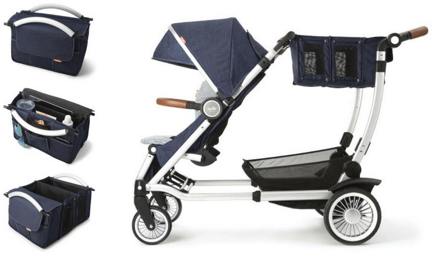 Austlen Entourage Stroller Review. Expandable Market Tote.