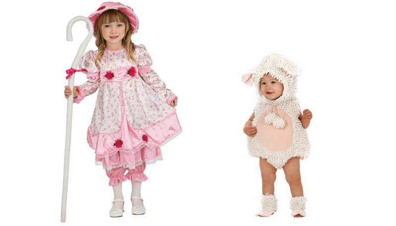Creative Halloween Costumes for Siblings - Little Bo Peep