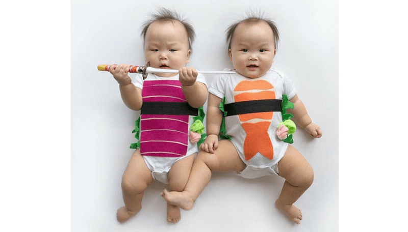 Creative Halloween Costumes for Siblings - Sushi