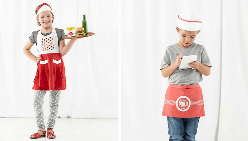 Creative Halloween Costumes for Siblings - Diner Waitress and Waiter