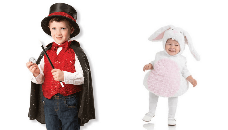 Creative Halloween Costumes for Siblings - Magician Rabbit