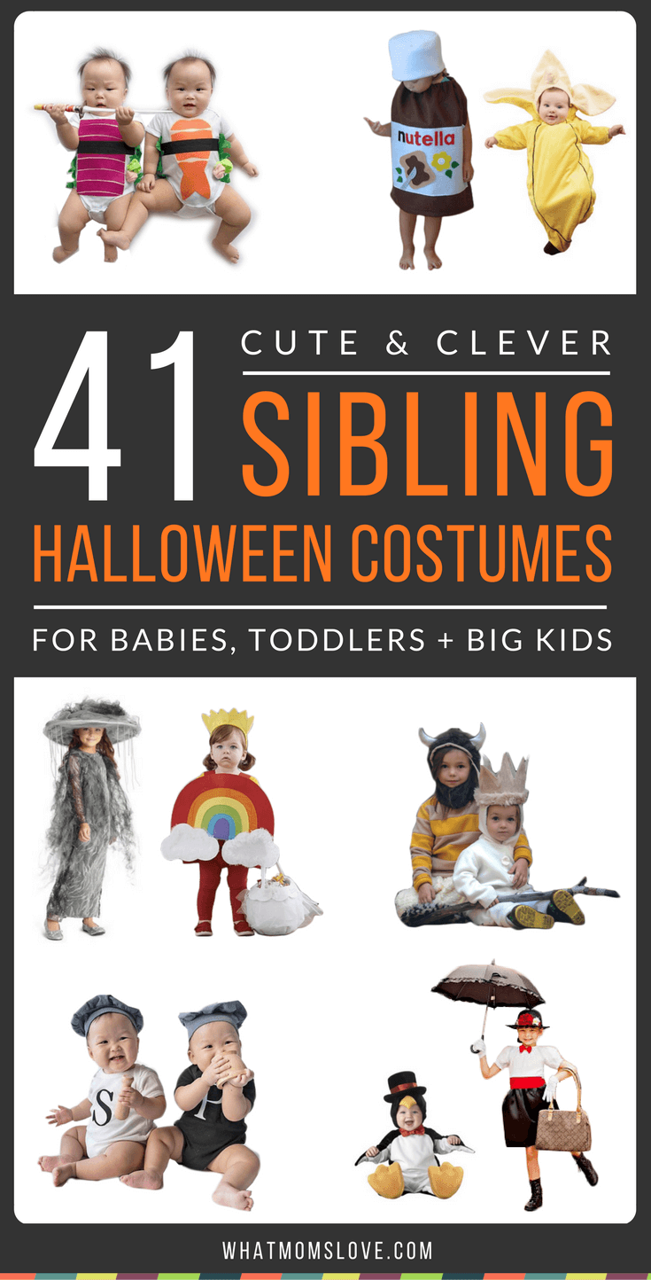 41 cute & clever halloween costume ideas for siblings (no diy