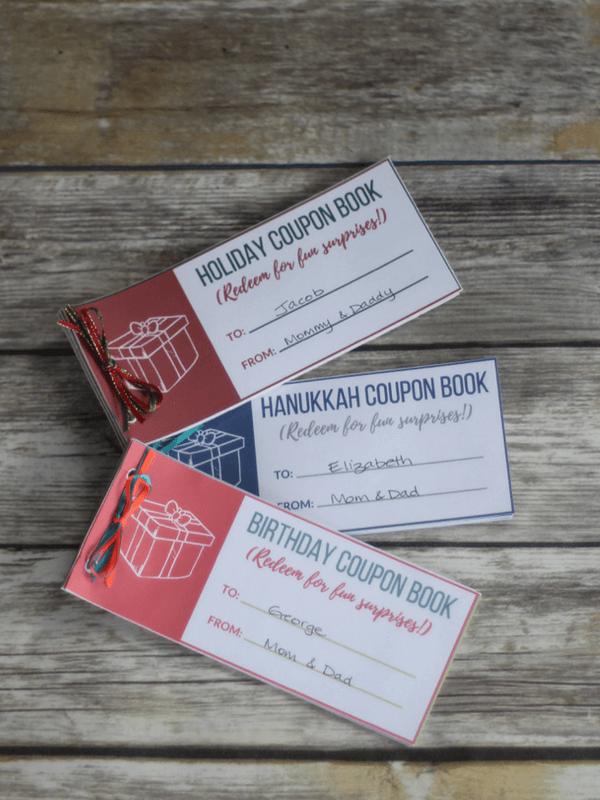 printable coupon book for kids christmas birthdays hanukkah