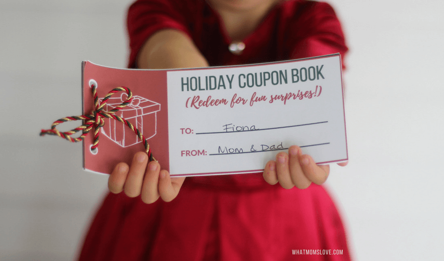 Printable Stocking Stuffer Coupon Book for Kids