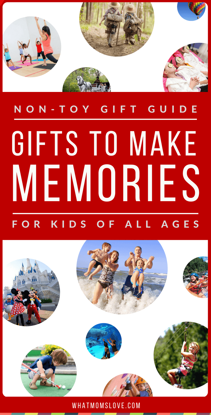 non toy gift guide gifts for making memories what moms love