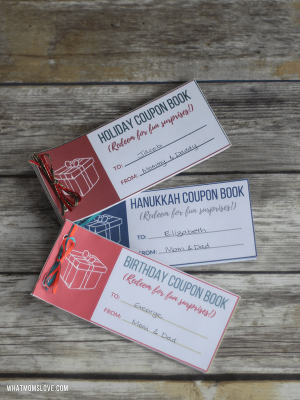 Free Printable Coupon Book For Christmas Hanukkah Birthdays The