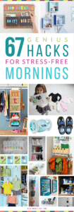 Hacks, Tips and Tricks for Stress-Free Mornings with Kids   Organization ideas for back-to-school. including morning routine checklists, clothes organization, command centers and backpack nooks, bathroom hacks, and more! Get all the inspiration at whatmomslove.com