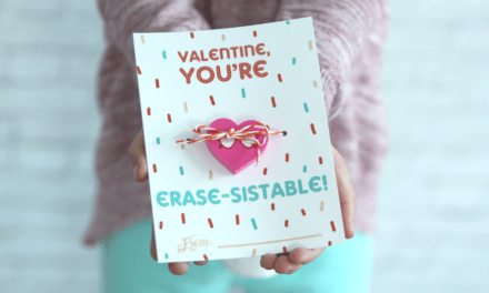 "Non-Candy Printable Valentine Perfect For The Classroom: ""You're Erase-sistable"""