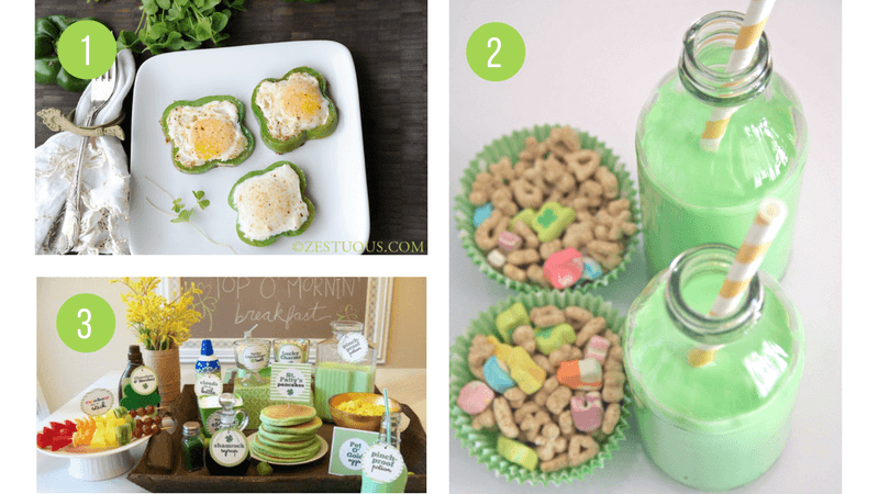 St Patricks Day Breakfast Ideas | Green, Shamrock and Rainbow food ideas to celebrate St Paddys Day with your kids