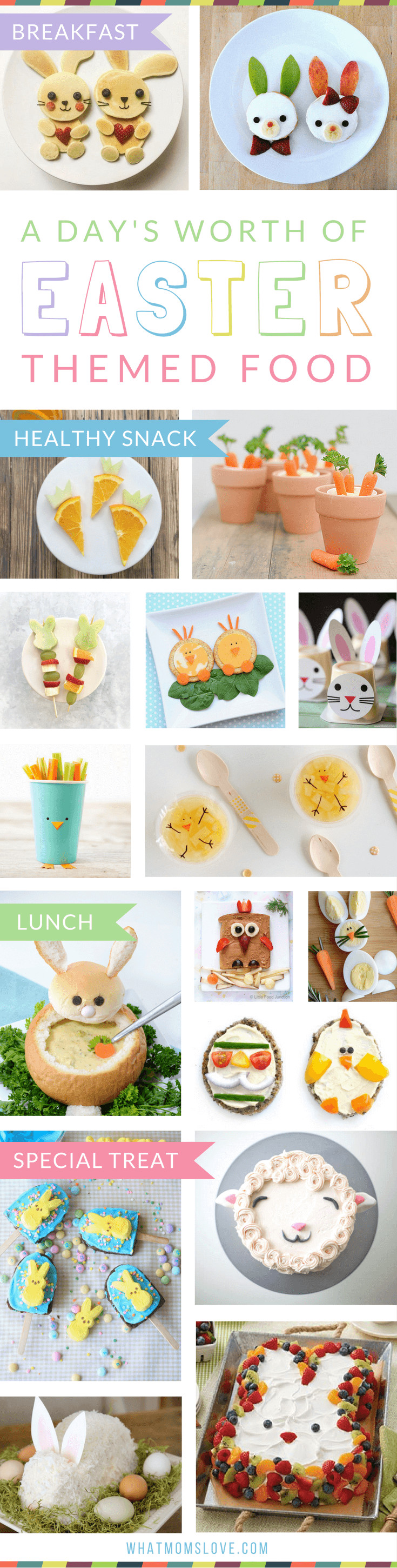 A Day's Worth Of Creative Easter Eats (Breakfast, Lunch