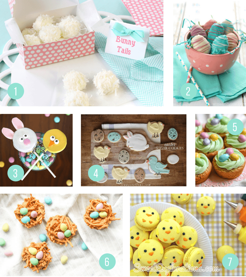 Easter Treat Ideas for Kids | Easy to make sweets that are perfect for your children's school class party or just for fun - super cute yet simple desserts - including cakes, bark, brownies, peeps, bunnies, lambs, mini eggs, rice krispies and more!