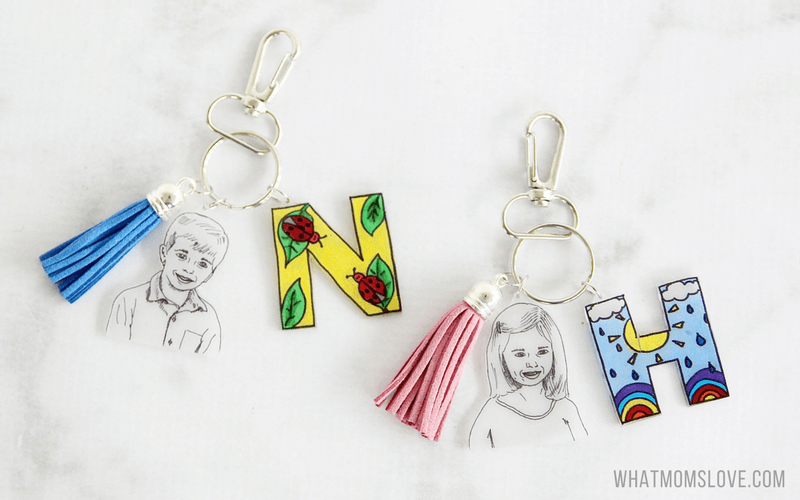 DIY Gift for fathers day | Shrinky Dinks personalized keychain for dad, grandpa, grandad
